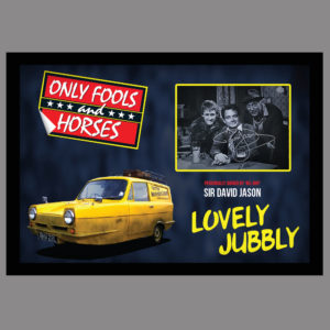 ONLY FOOLS AND HORSES SIGNED BY DEL BOY - SIR DAVID JASON
