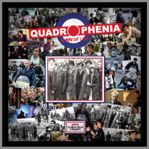 QUADROPHENIA MONTAGE PICTURE SIGNED BY PHIL DANIELS, LESLIE ASH & TOYAH WILLCOX