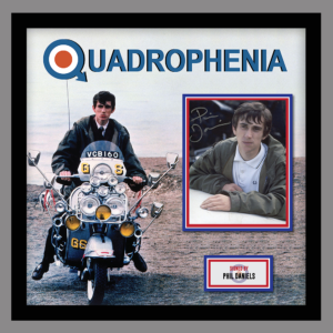 QUADROPHENIA FRAMED PICTURE SIGNED BY PHIL DANIELS