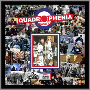 QUADROPHENIA MONTAGE PICTURE SIGNED BY PHIL DANIELS AND LESLIE ASH