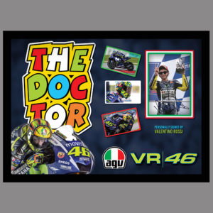 VALENTINO ROSSI - THE DOCTOR - MOTORGP SIGNED PICTURE