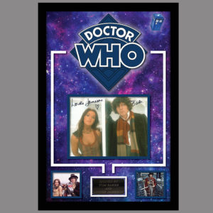 DR WHO PICTURE SIGNED BY TOM BAKER AND LOUISE JAMESON